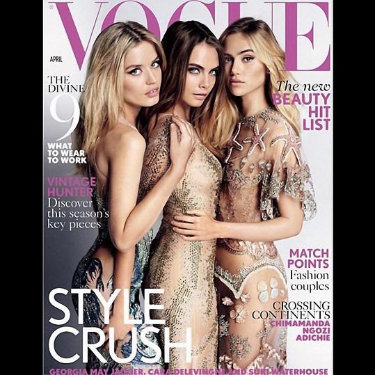 Georgia, Cara a Suki na obálce dubnového časopisu Vogue