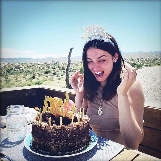 Herečka slavila 32. narozeniny.