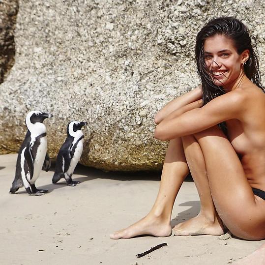 Sara Sampaio se vyfotila s tučňáky.