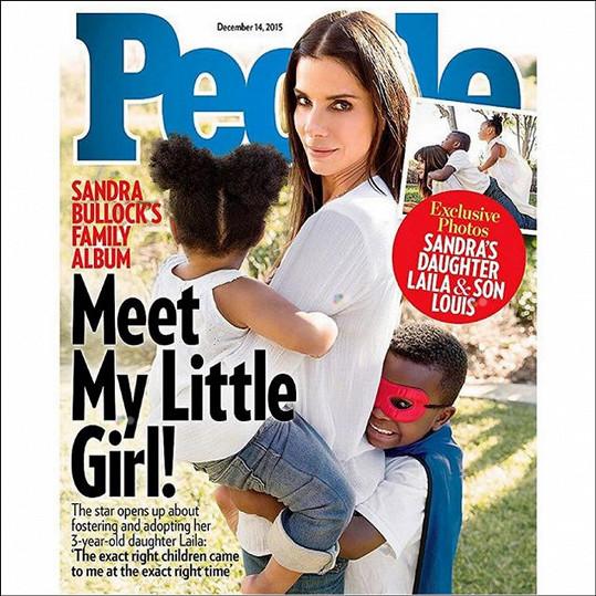 Sandra Bullock a její děti na obálce magazínu People