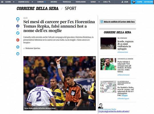 V Itálii je Řepka známý jako bývalý hráč ACF Fiorentina.