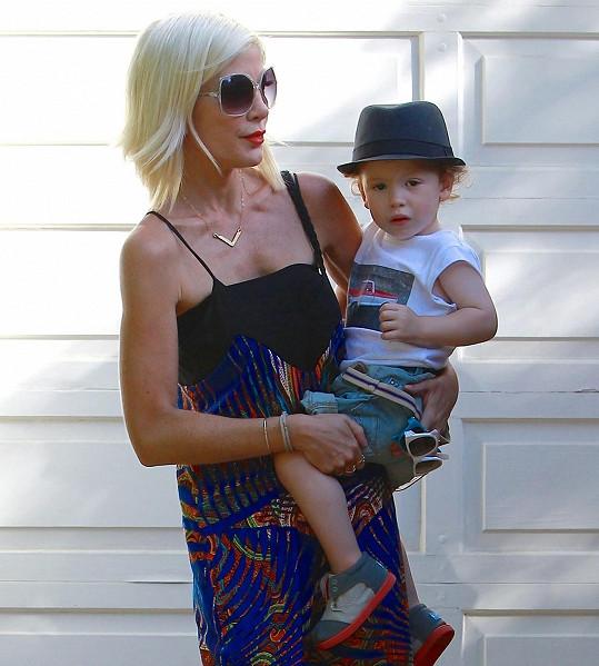 Tori s dvouletým Finnem.