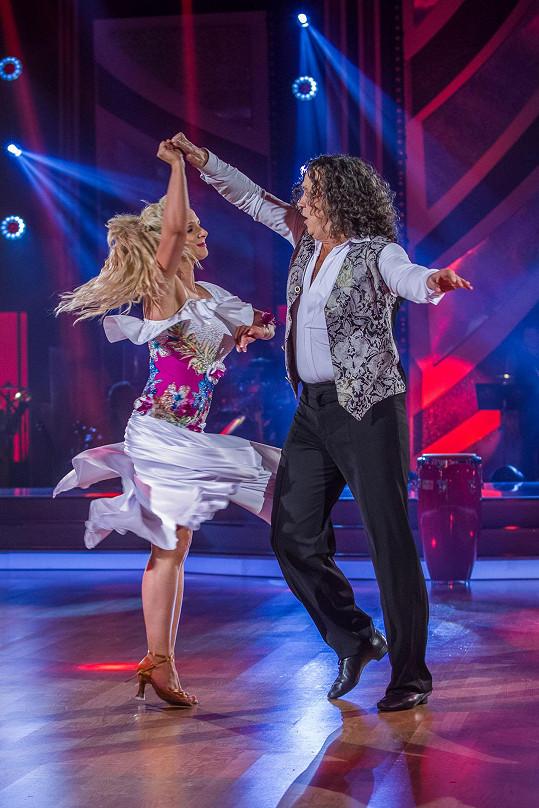 Richard s Janou při posledním tanci ve StarDance