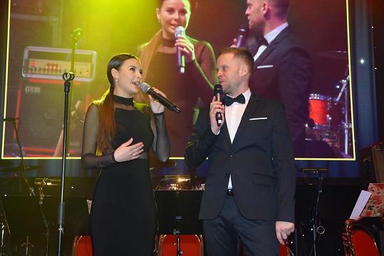 S Jakubem Prachařem, který ples moderoval.
