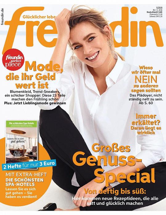 Veronika Krajplová na titulní straně časopisu.
