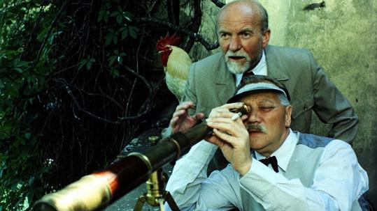 Rudolf Hrušínský a Miroslav Macháček ve filmu Lásky mezi kapkami deště