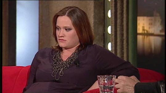Natálie Kocábová v roce 2012, kdy očekávala narození dcery.