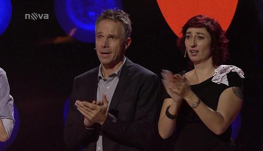Janek Ledecký a Simona Babčáková po jednom z vystoupení.