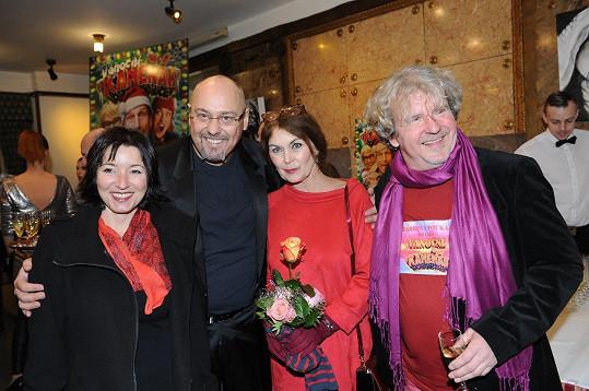 Režisér F. A. Brabec (vpravo) a herec a producent Pavel Pásek