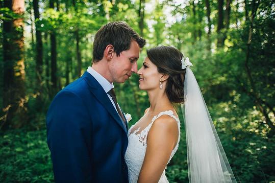 Jana Marečková na svatební fotce