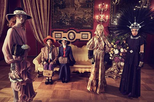 Barbora Fialová v kampani Gucci