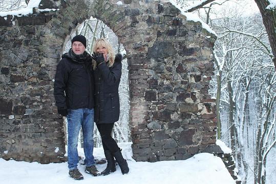 Věra Martinová s přítelem Květoslavem