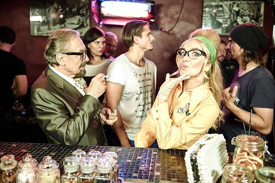 S Karlem Gottem během natáčení.