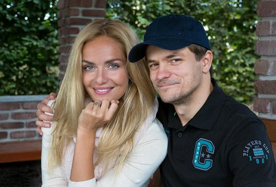 Táňa se svým filmovým manželem Jirkou Mádlem
