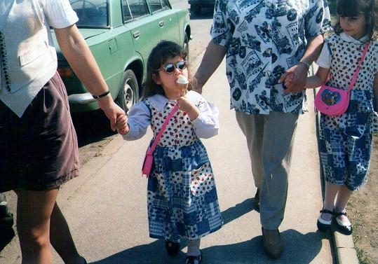Nikola Buranská jako malá holčička