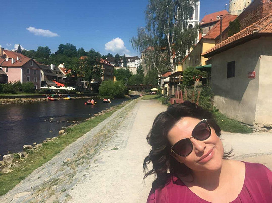 Cestou z Rakouska se zastavila ve svém milovaném Českém Krumlově.