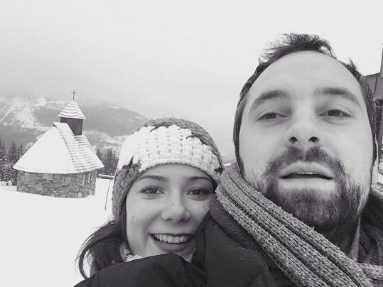 Ivana Korolová s přítelem Jirkou, kterého si brzy vezme.