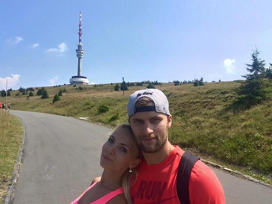 Monika s přítelem Petrem Kolouchem