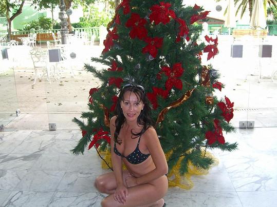 Heidi Janků tráví Vánoce u moře.