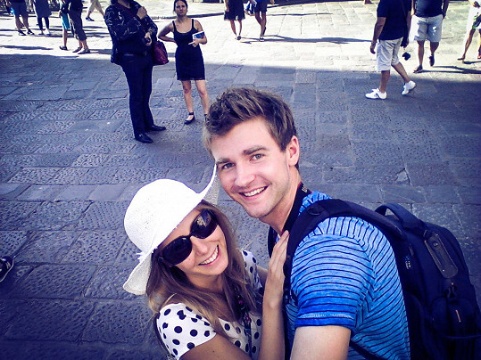 Denisa s přítelem Robinem na dovolené v italské Florencii
