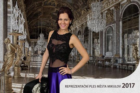 Jana Doleželová moderovala před dvěma týdny Reprezentační ples města Mikulov.
