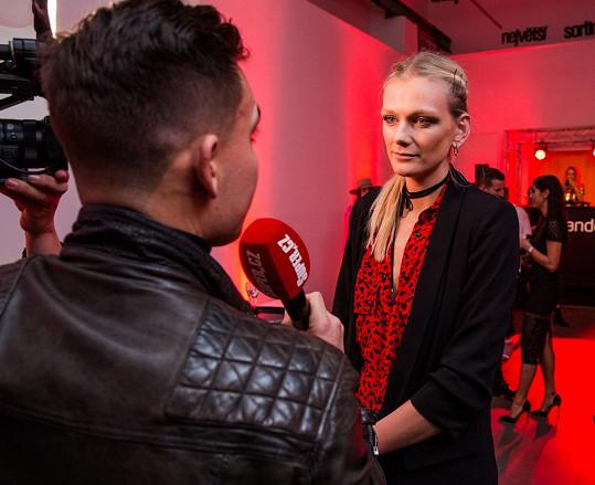 Topmodelka během rozhovoru se Super.cz.