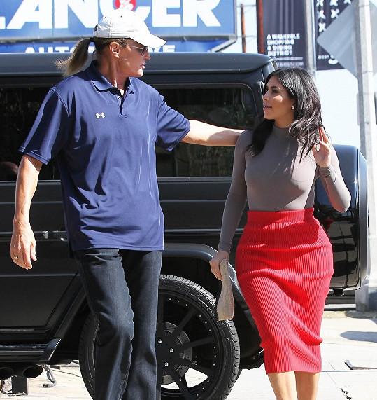 S nevlastní dcerou Kim Kardashian