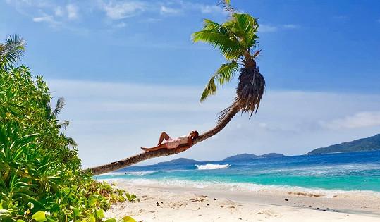 Monika si užívala krásné ostrovy v Indickém oceánu.