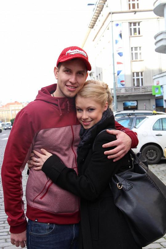 Michaela Sejnová s přítelem