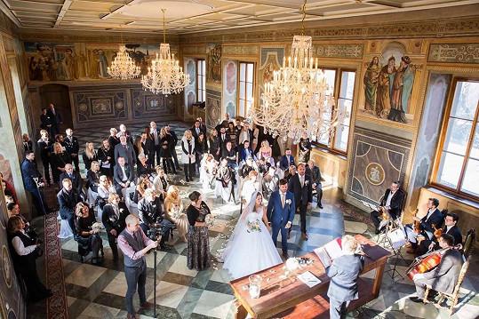 Veselka se konala v Martinickém paláci.