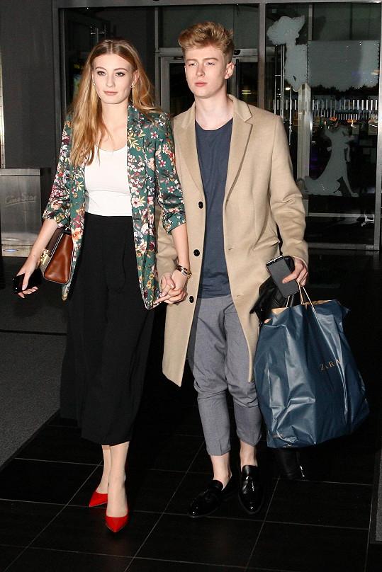 S přítelkyní Dianou Kratochvílovou před premiérou