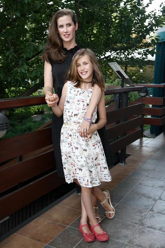 S dcerou Justýnou, kterou má s expartnerem Davidem Drábkem.