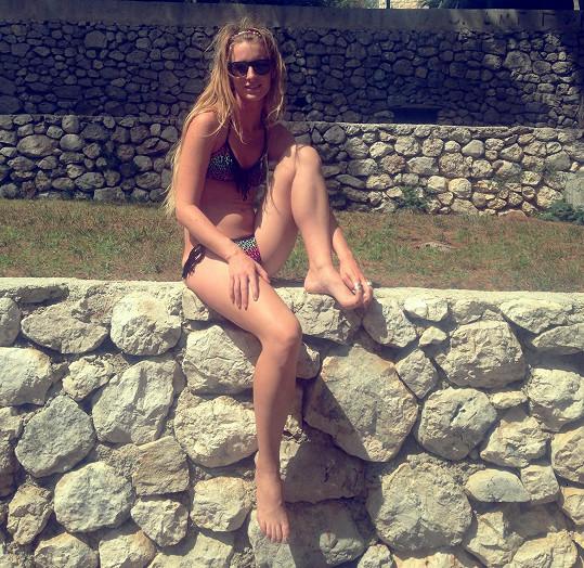 Byla na dovolené v Chorvatsku.