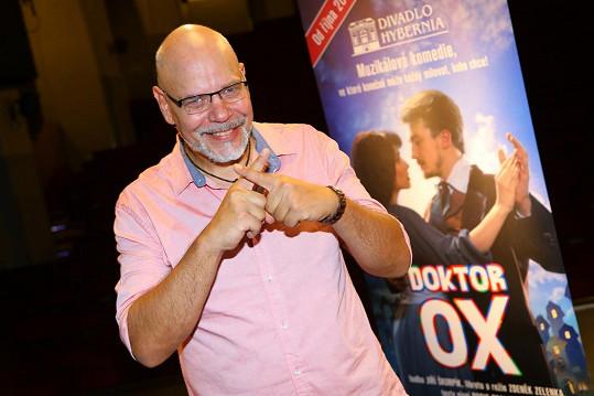 Martin Pošta byl při ukázce nového muzikálu Doktor Ox trochu nervózní kvůli choreografii. Poznat to na něm ale nebylo.