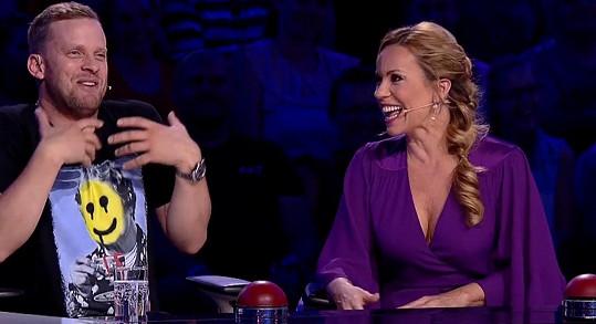 Jakub Prachař a Diana Mórová společně vtipkovali.
