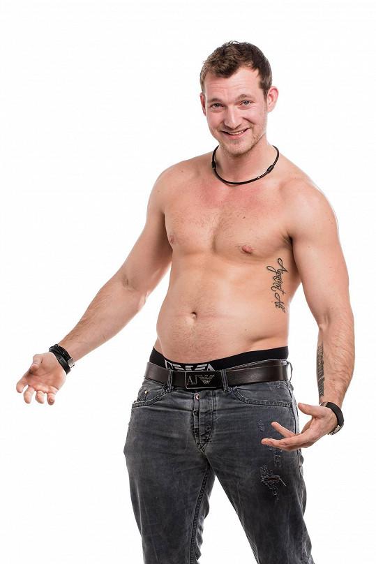Josef Pizinger má tělo parádní už nyní.