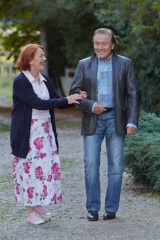 Karel Gott s Ivou Janžurovou