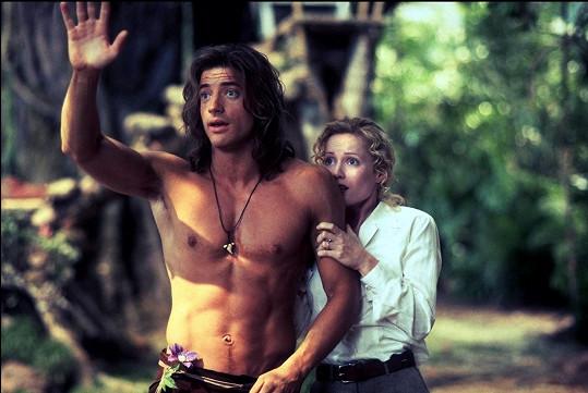 Jako Král džungle měl Fraser vypracovanou muskulaturu.
