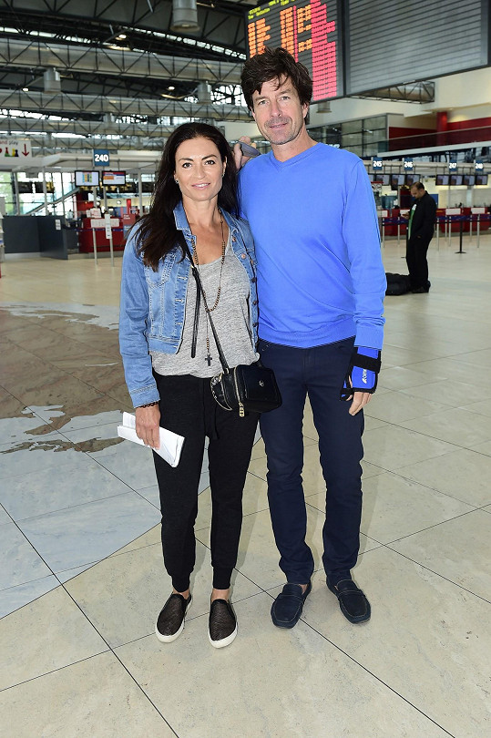 Hana Kynychová s manželem Jindřichem