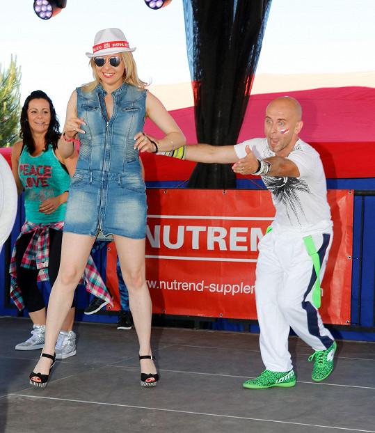 Ani na víkendu v Tatrách nezahálela.