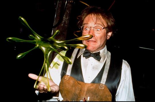Herec jako geniální profesor Phillip Brainard ve filmu Flubber