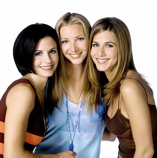 Jako Phoebe Bufetová s Courteney Cox a Jennifer Aniston v Přátelích
