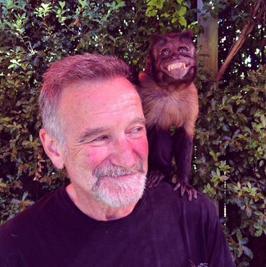 Robin Williams na jednom z posledních snímků