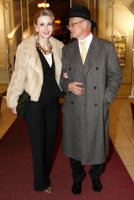 Výtvarnice s manželem Michalem Horáčkem