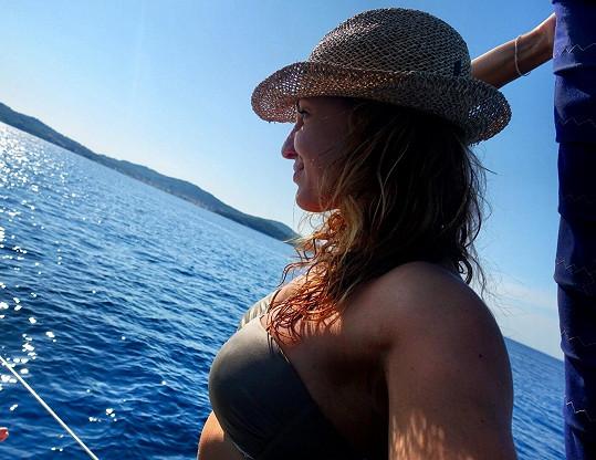 Košťálová prožila týden na jachtě.