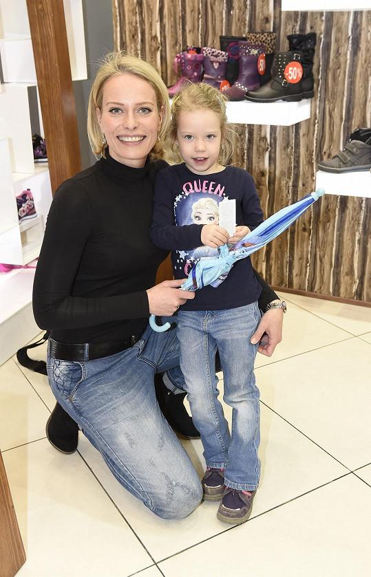 Kristina Kloubková s dcerou Jasmínou