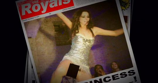 Její fotografie z párty se ocitnou na titulkách několika bulvárů.