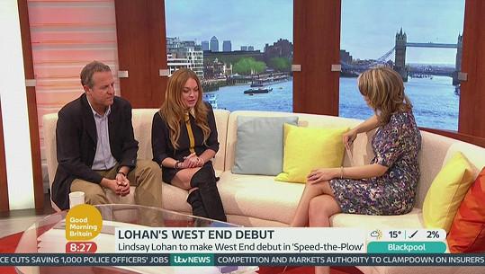 Lindsay Lohan s Nigelem Lindsaym jsou hlavní hvězdy nové divadelní hry.