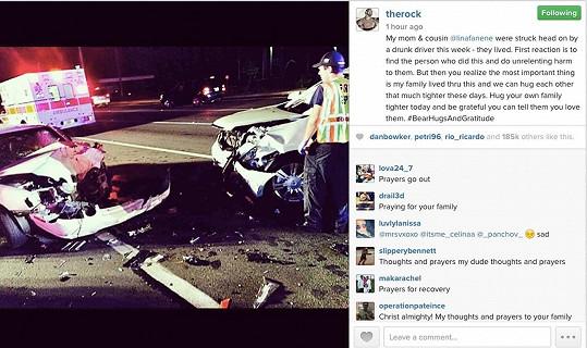 Herec sdílel na internetu děsivě vypadající autonehodu svých nejbližších.