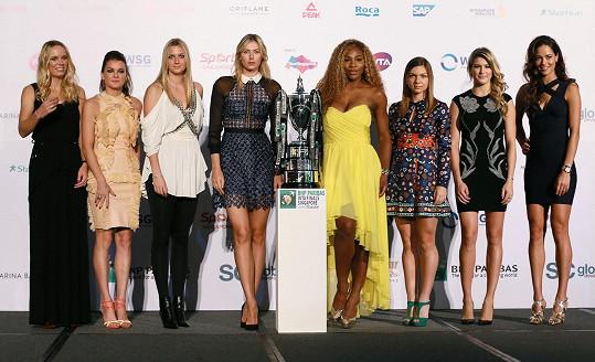 Ženská tenisová špička se utká o tuto trofej.